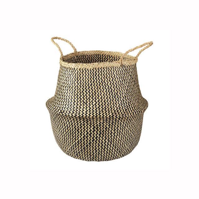 IKEA FLADIS Seagrass Black Basket
