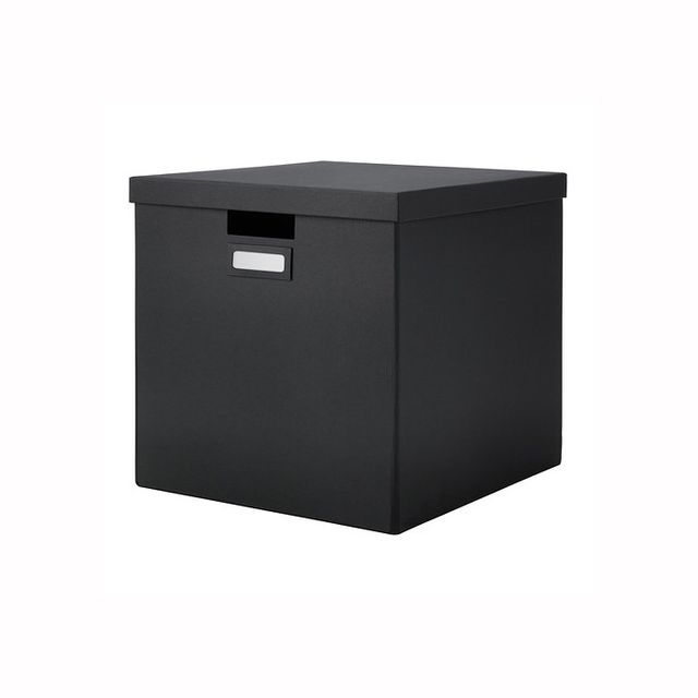 IKEA TJENA Black Box With Lid
