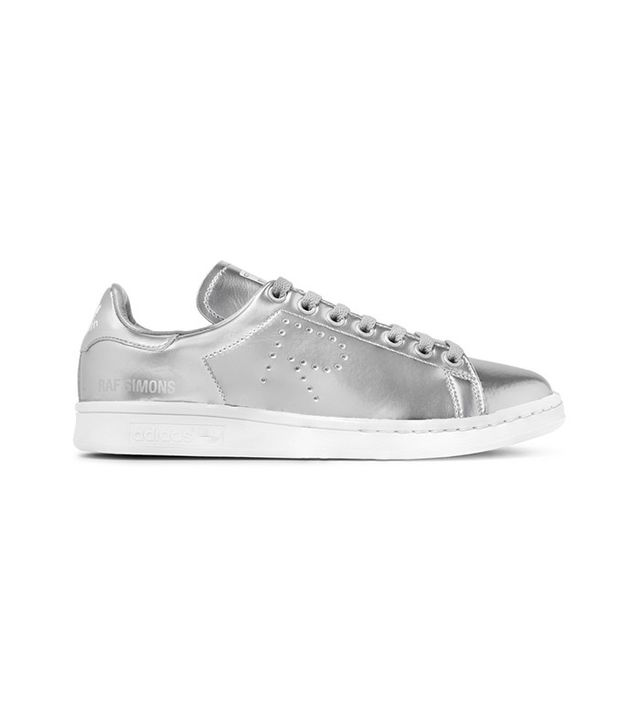 Adidas Originals + Raf Simons Stan Smith Perforated Metallic Sneakers