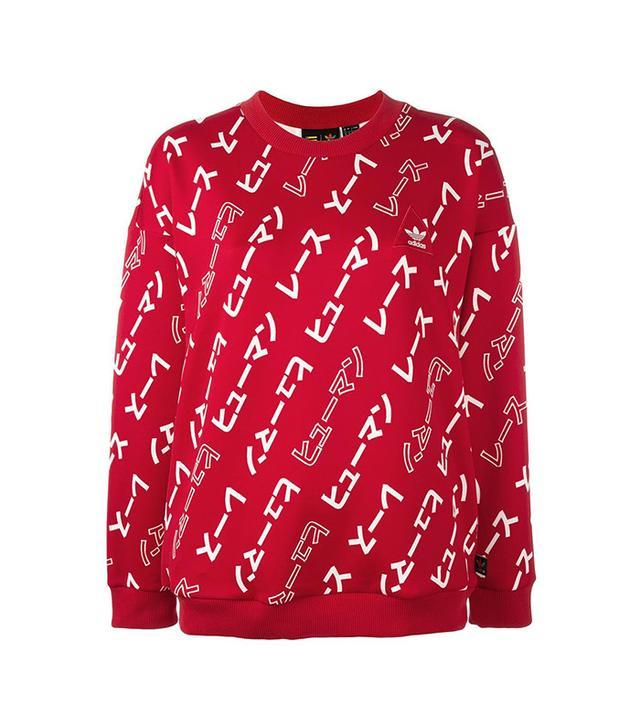 Adidas Hu Race Printed Sweatshirt