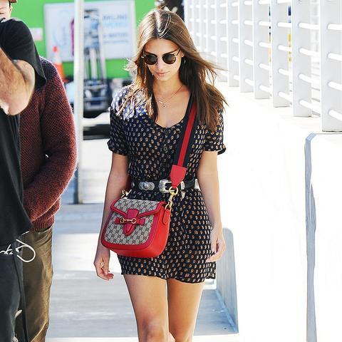 Emily Ratajkowski style: the Gucci bag
