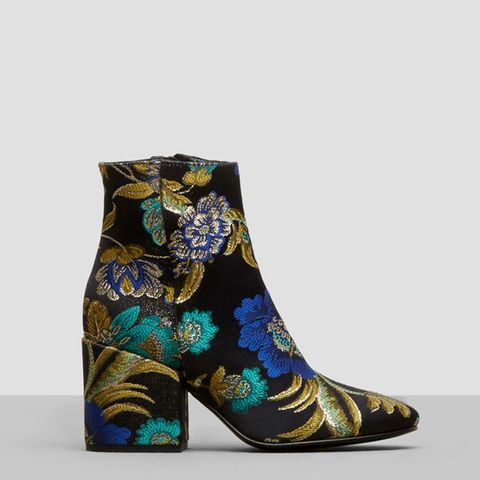Odonna Brocade Ankle Booties