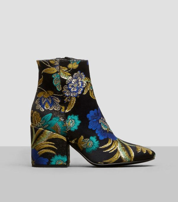 Kenneth Cole Black Label Odonna Brocade Ankle Booties