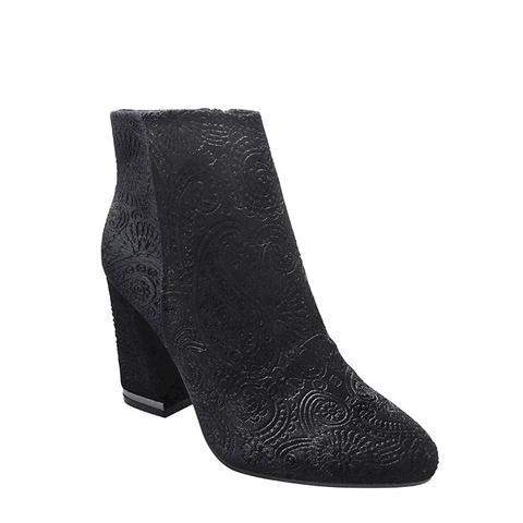 Women's Cora Paisley Velvet Booties