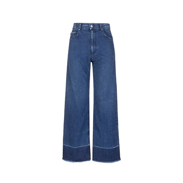 Rachel Comey Legion Wide Leg Raw Cuff Jeans