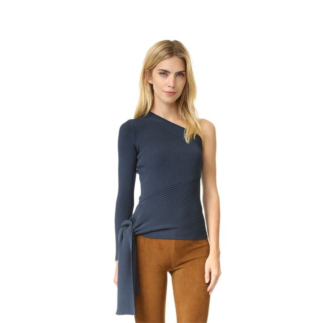 Cushnie Et Ochs One Sleeve Knit Top