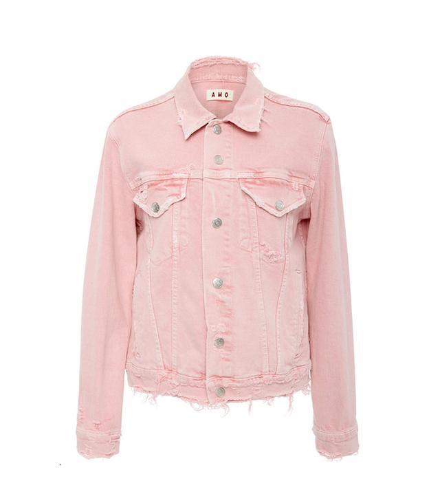 AMO Vintage Stretch Pink Denim Jacket