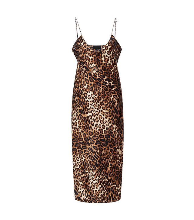 Nili Lotan Short Leopard Cami Dress