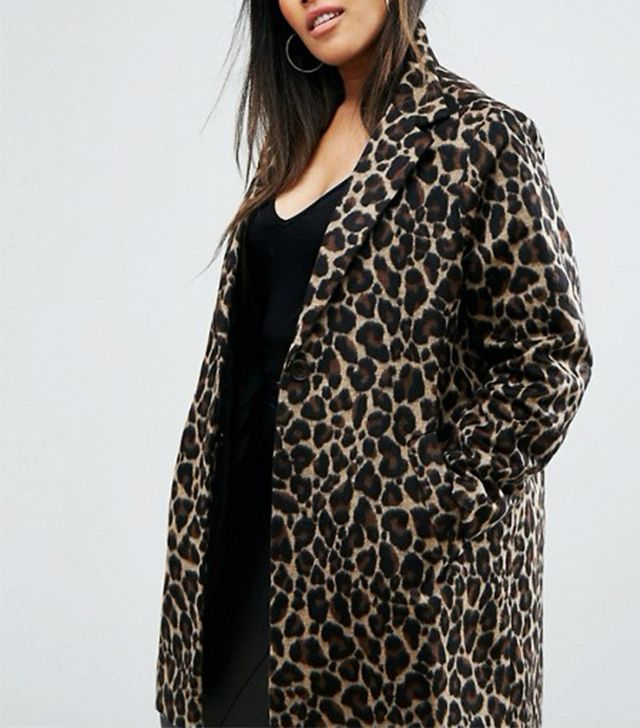 River Island Plus Leopard Print Coat
