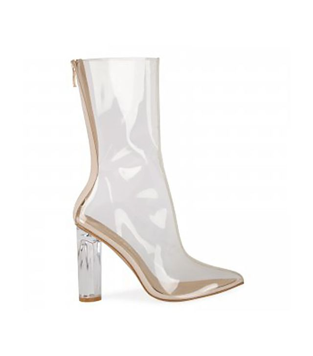 Ego Tasha Perspex Clear Ankle Boot