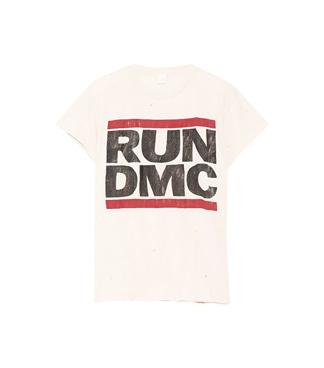 MADEWORN Run DMC Distressed Printed Cotton Jersey T-Shirt