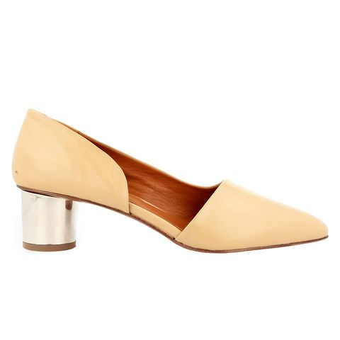 Karla Cream Leather Pumps