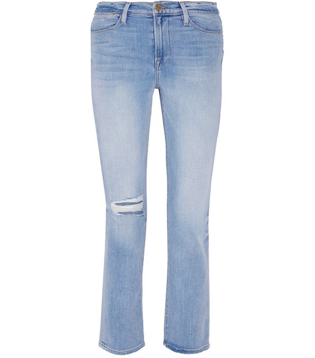 Frame Le High Distressed Straight-Leg Jeans