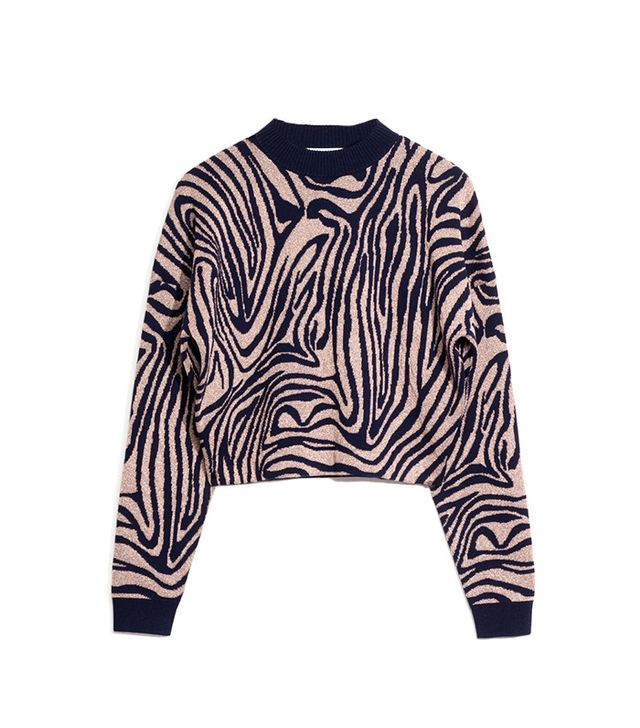 & Other Stories Jacquard Zebra Sweater