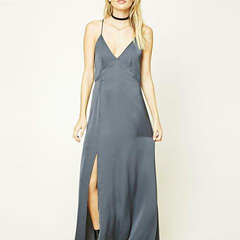 Comtemporary Satin Maxi Dress