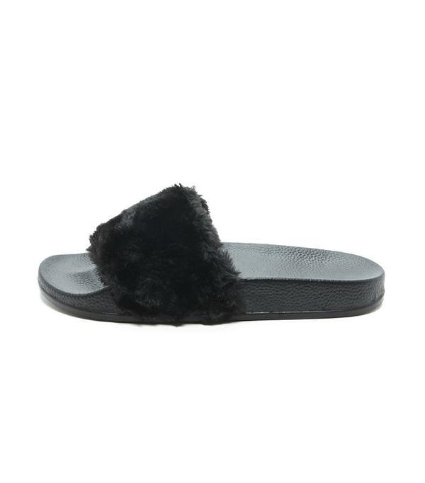 Forever 21 Faux-Fur Slides