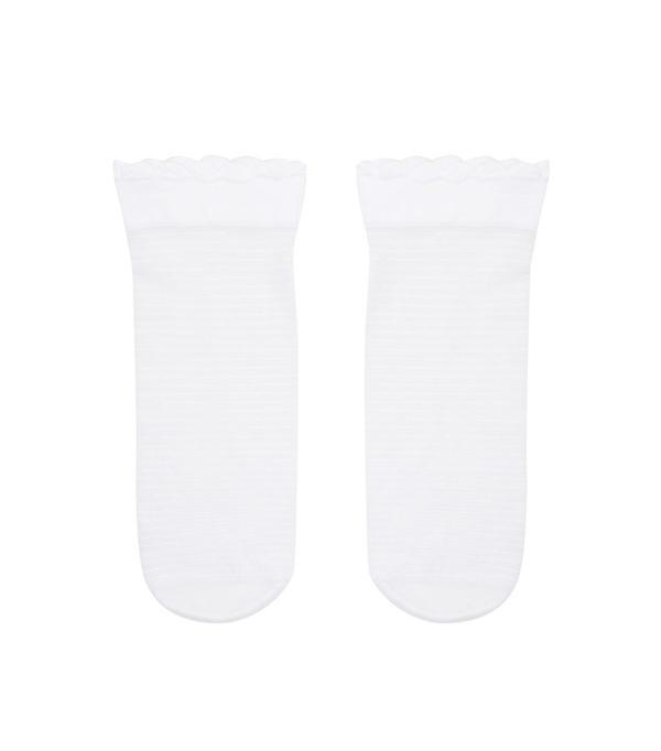 Forever 21 Striped Mesh Crew Socks
