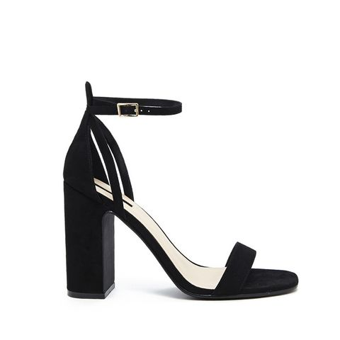 Faux-Suede Strappy Heels
