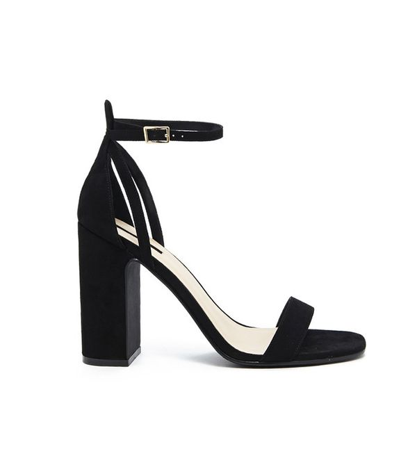Forever 21 Faux-Suede Strappy Heels