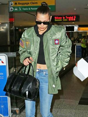 Bella Hadid's Laid-Back Travel Look Is Probably Already in Your Closet