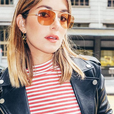street style trends 2017: Tinted Sunglasses