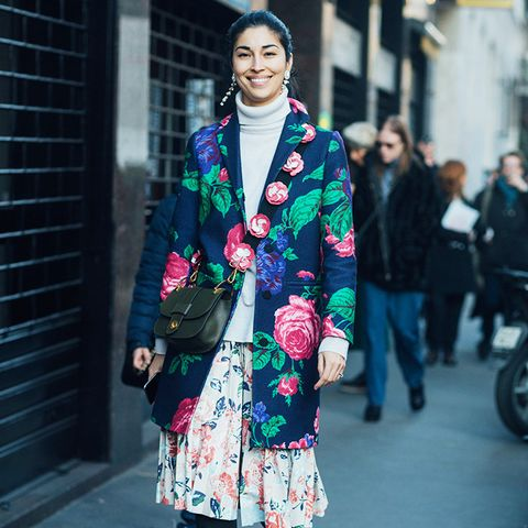 street style trends 2017: 3 or More Floral Prints in 1 Look