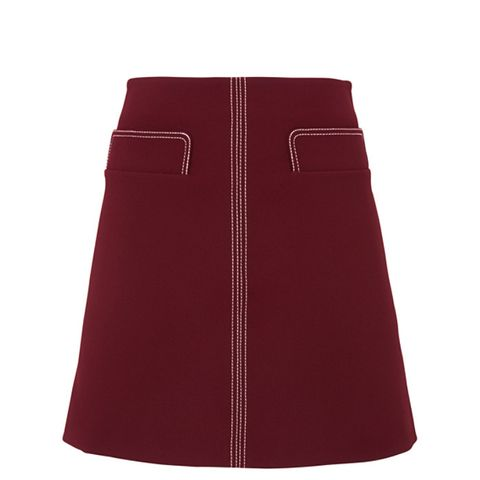 Rita Contrast Stitch Skirt
