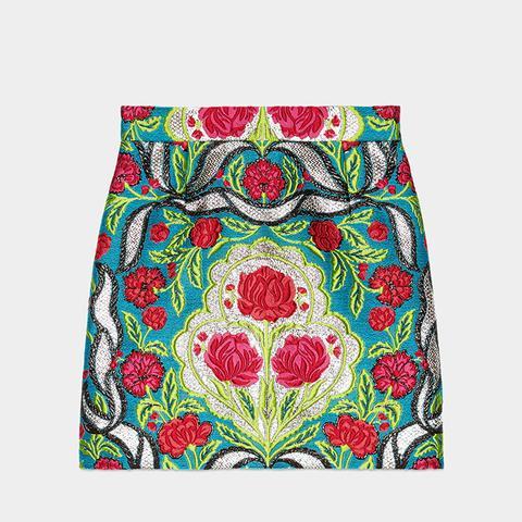 Floral Brocade Skirt