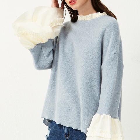 Luci Overlay Blouse Sweatshirt