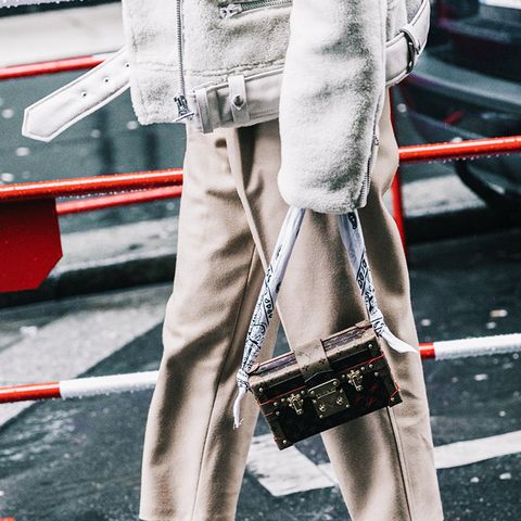 street style trends 2017: scarf-strap bag