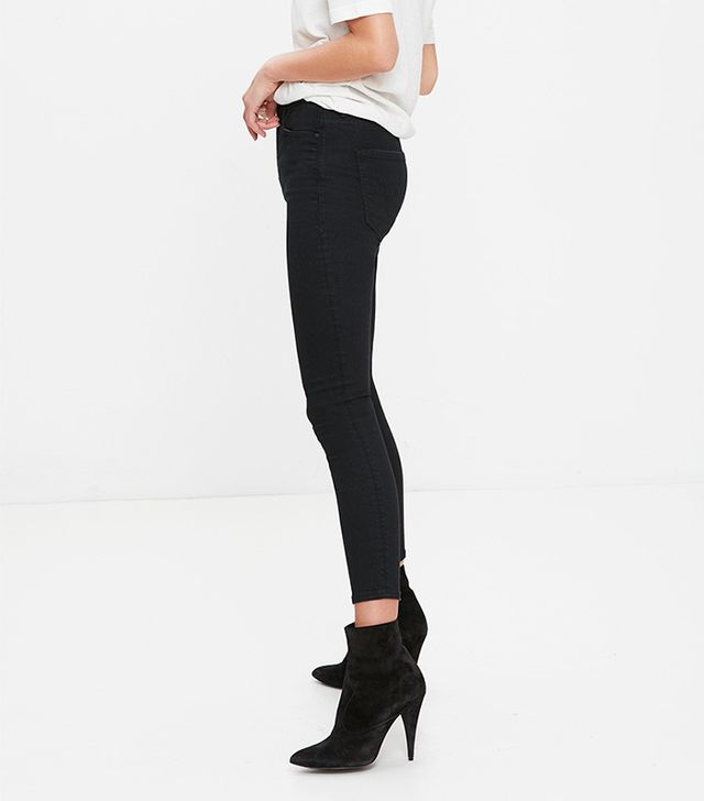 Mother High Waisted Looker Crop Jeans