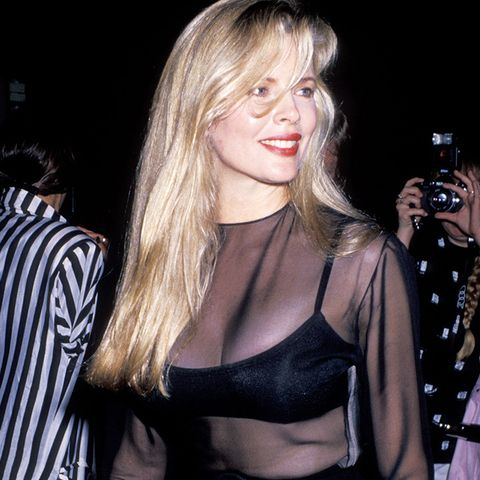 eighties fashion: Kim Basinger in a sheer dress was classic eighties fashion