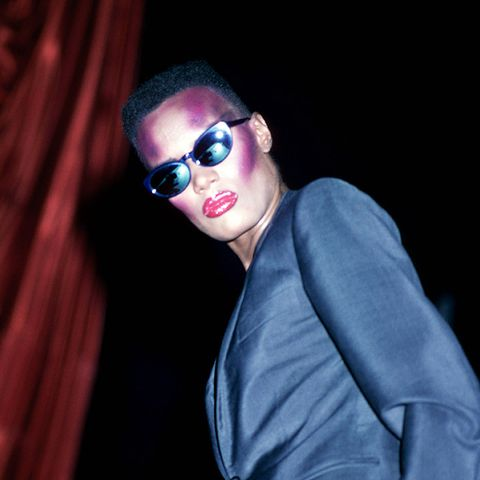eighties fashion:  Grace Jones knows a thing or two about this era