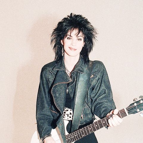 eighties fashion: Joan Jett wearing leggings