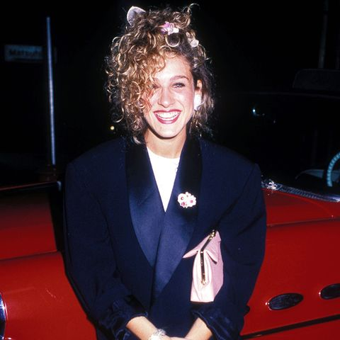 eighties fashion: oversized blazer as seen on Sarah Jessica Parker