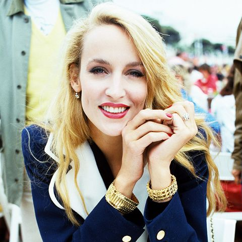 eighties fashion: Jerry Hall in Cannes in the 1980s