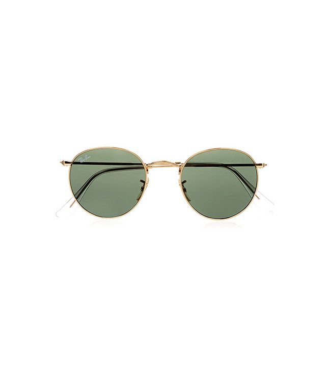 Ray-Ban Round-Frame Gold Toned Sunglasses
