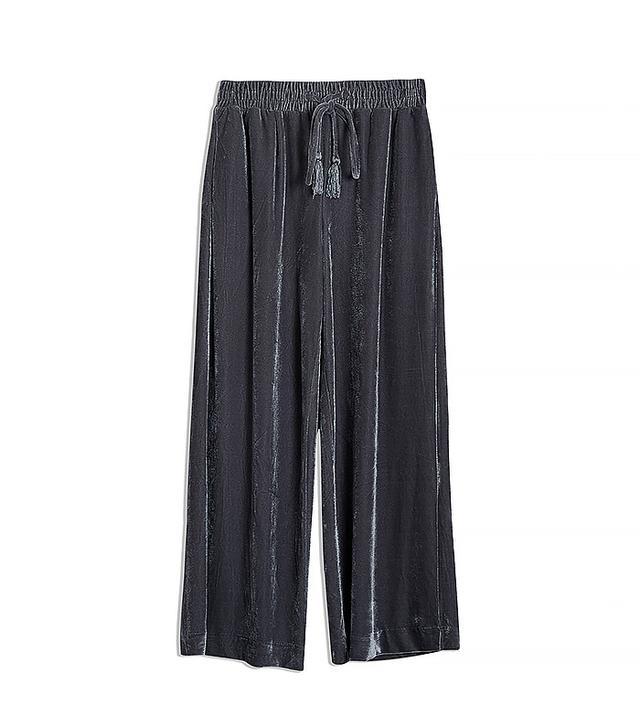 Who What Wear Velvet Wide-Leg Pants