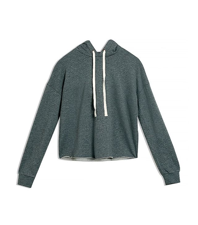 Who What Wear Deconstructed Hoodie