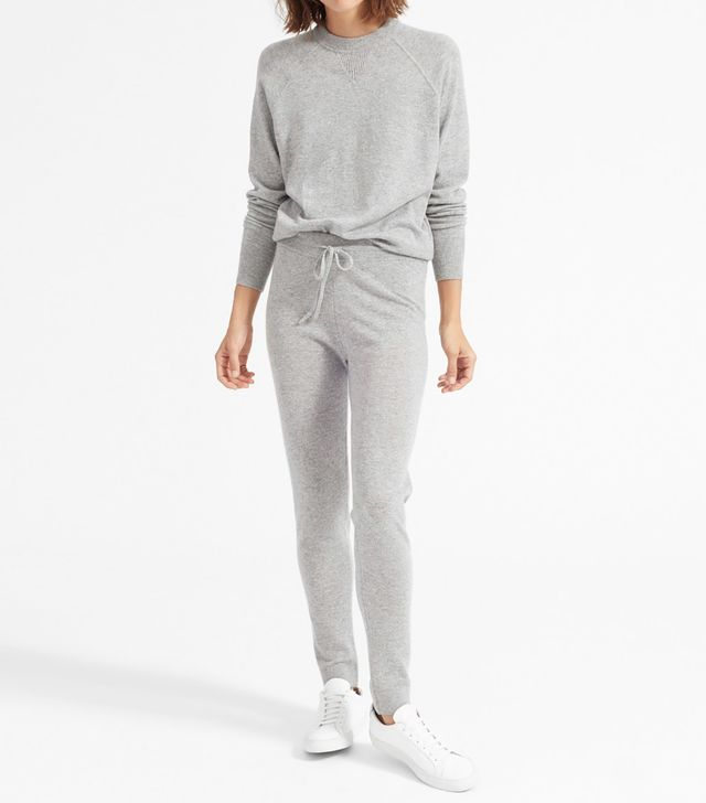Women's The Cashmere Sweatpant Sweater by Everlane in Heather Grey, Size L