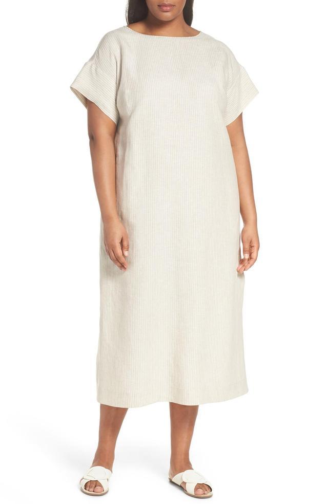 Emiline Stripe Linen Dress