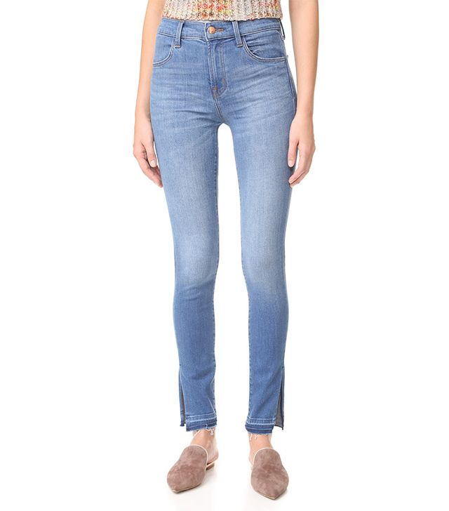 J Brand Maria High-Rise Skinny Jeans with Side Slits