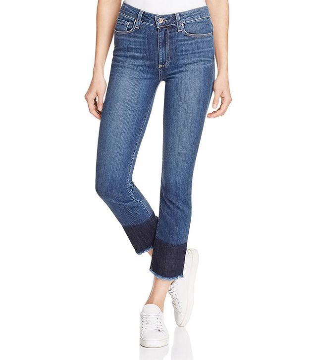 Paige Jacqueline Straight Block-Hem Jeans