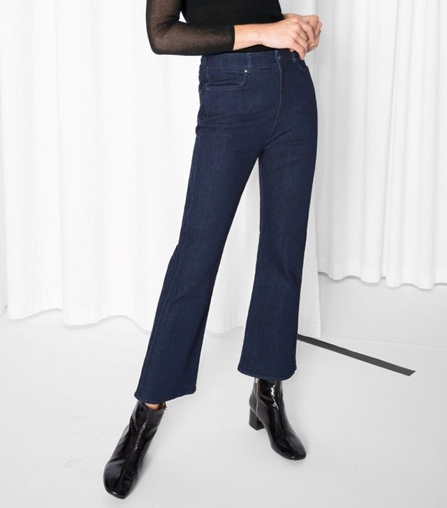 & Other Stories Royal Blue Denim Trousers