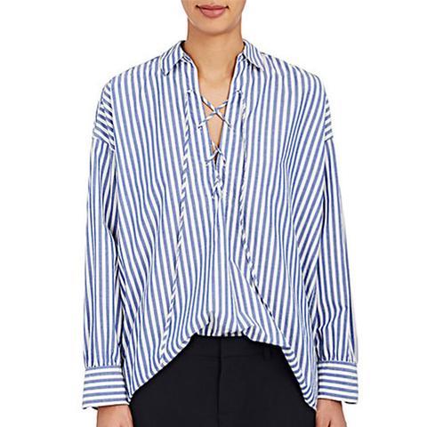 Shiloh Striped Cotton Blouse