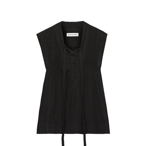Kenn Lace-Up Voile Top