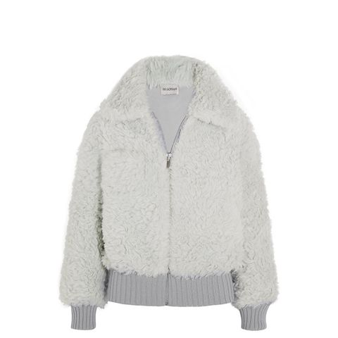 Alpaca and Mohair-Blend Bomber Jacket