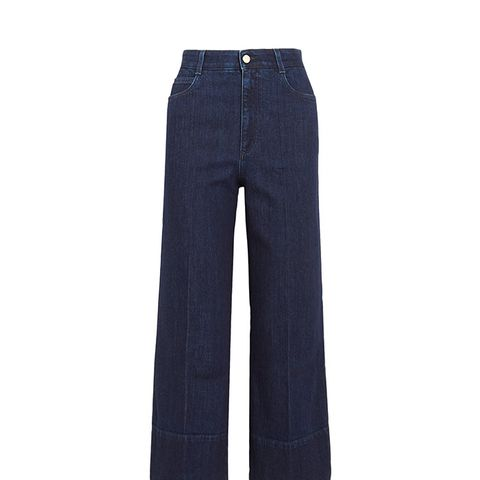 Cropped High-Rise Flared Jeans