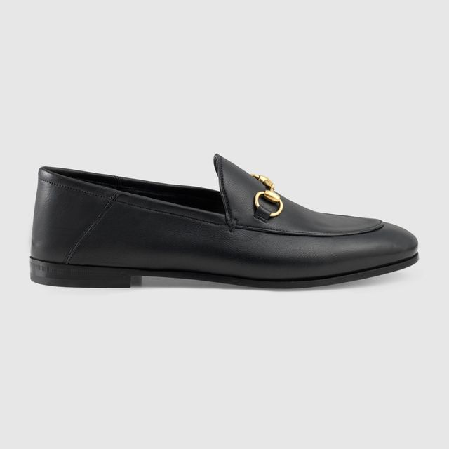 Gucci Brixton Leather Horsebit Loafer