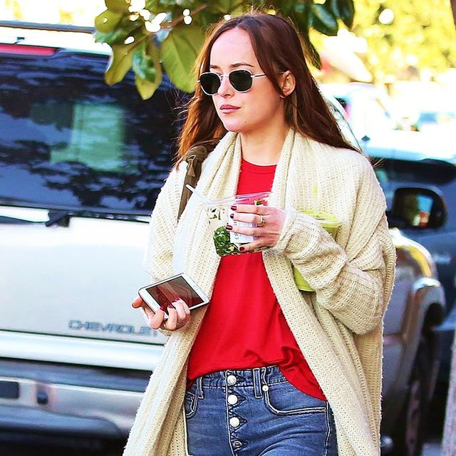 Dakota Johnson is Down With the Best Flats Trend of 2017